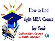 Online MBA Course in Human Resource Management