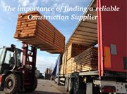 Top Reasons for Finding a Reliable Construction Supplier
