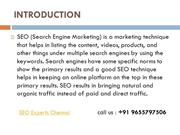 SEO Experts in Chennai,India.Search Engine Specialist
