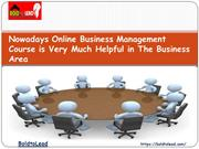 Nowadays Online Business Management Course is Very Much Helpful