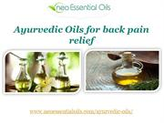 Ayurvedic Oils for back pain relief