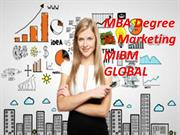 MBA Degree in marketing exceptionally interesting MIBM GLOBAL