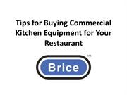 Tips for Buying Commercial Kitchen Equipment for Your Restaurant