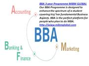BBA 3 year Programme and also the fundamentals of administration