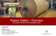 Packaging Boxes or Paper Carry Bags - Papers Gallery