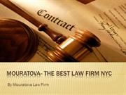 Mouratova- The Best Law Firm NYC
