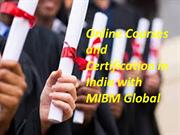 Online Courses and Certification in India with Delhi MIBM Global