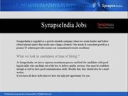 Synapseindia jobs - software development in noida