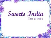 Sweets India test like indian sweet