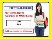 Fast-Track degree Programs in India