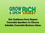 Get Guidance from Cannabis Speakers to Choose Cannabis Business Ideas