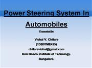 ppt on power steerin in automobile
