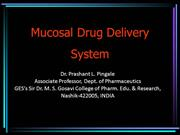 Mucosal Drug Delivery System