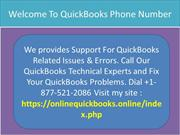 Welcome To QuickBooks Phone Number +-1877-521-2086
