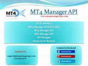 HTTP API MT4 | MT4 Manager API JSON XML | MT4 Manager API