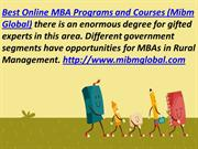 Best Online MBA Programs for MBAs in Rural Management