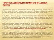 How You Can Obstruct Internet Site on a Belkin Router