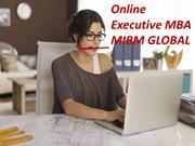 Online Executive MBA Our online EMBA program