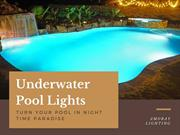 Underwater Pool Lights Turn your pool lights in Night Time Paradise