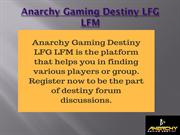 LFG Destiny | Looking for Groups & Players to Play Destiny Game