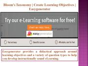 Bloom's Taxonomy | Create Learning Objectives- Easygenerator