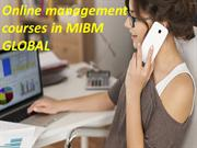 An official graduate degree like online management courses
