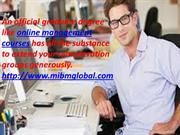 Online management courses they have never considered.