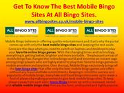Get To Know The Best Mobile Bingo Sites At All Bingo Sites