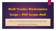 Multi Vendor Marketplace Script – PHP Scripts Mall