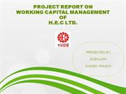 PROJECT REPORT ON WORKING CAPITAL OF HEC RANCHI