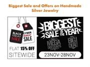 Biggest Sale Of Handmade Silver Jewelry from India