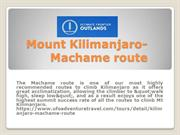 Mount Kilimanjaro-Machame route