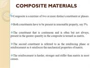 COMPOSITE MATERIALS - Introduction