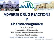 Adverse drug reactions and pharmacovigilance