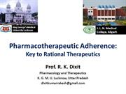 Pharmacotherapeutic Adherence