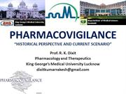 Pharmacovigilance Historical Perspectives