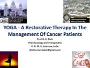 Yoga a restorative therapy in cancer