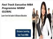 Fast Track Executive MBA Programme in Delhi