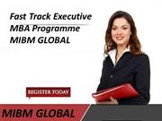 Fast Track Executive MBA Programme in Noida