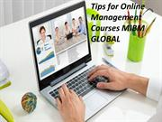 Tips for Online Management Courses in MIBM GLOBAL