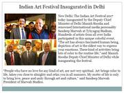 Indian Art Festival Inaugurated in Delhi