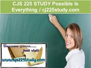 CJS 225 STUDY Possible Is Everything - cj225study.com