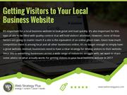Getting Visitors to Your Local Business Website