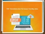 PDF Translations And The Issues That May Arise