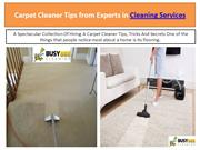 Carpet Cleaner Tips from Experts in Cleaning Services - bzbcleaning