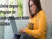 Online Degree Program for Undergraduates of a business organization