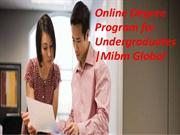 Online Degree Program for Undergraduates