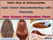 Hair Dye & Colourants. Hair Color Manufacturing with Formula.