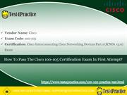 Pass your Cisco 100-105 Exam Witth 100-105 Exam Dumps