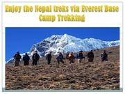 Enjoy the Nepal treks via Everest Base Camp Trekking